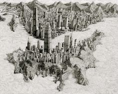 Mind Bogglingly Detailed Pen and Ink Cityscapes by Ben Sack