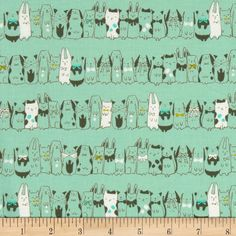 Designed by Sarah Watts for Cotton + Steel, this cotton print is perfect for quilting, apparel and home decor accents. Colors include mint, turquoise, dark sage, citron, and white.