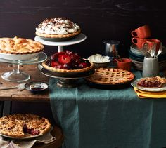 I want to try all of these pies.Summer Party Potluck Idea: BYOP (Bring Your Own Pie) Donut Recipes, Pie Recipes, Summer Pie, Savory Snacks, Food Processor Recipes, Sweet Tooth, Sweets, Desserts, Bon Appetit