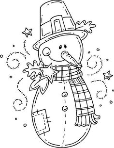 Snowman http://www.pinterest.com/evamgarciagonza/draws-for-painting/