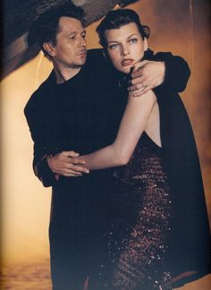 Milla Jovovich & Gary Oldman Photographed by Mikael Jansson for Donna Karan New York, Fall Winter 2000