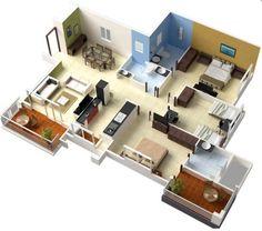 Amazing 3 Schlafzimmer Apartment / Haus Pläne. Interior IdeasInterior DesignHome ... Photo