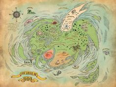 A nice map of the land of OOO! : adventuretime