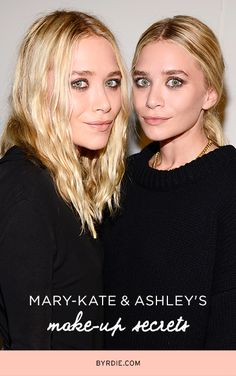 Mary-Kate and Ashley Olsen Spill Their Makeup Secrets The makeup products and looks that Mary-Kate and Ashley Olsen love. //The makeup products and looks that Mary-Kate and Ashley Olsen love. Beauty Inside, Beauty Make Up, Hair Beauty, Mary Kate Ashley, Mary Kate Olsen, Elizabeth Olsen, Beauty Tutorials, Beauty Hacks, Beauty Secrets