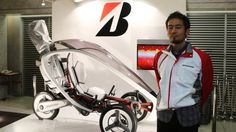 When you think of Bridgestone, you probably think of tires. The fact is, though, it also makes bikes, golf equipment, and has tried its hand at motorcycles. Bridgestone decided to combine all three things in one stunning concept vehicle – a pedal-electric trike that can carry a set of golf clubs.
