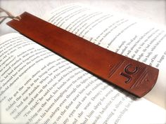 This personalized handmade leather bookmark makes a wonderful gift!  The leather…