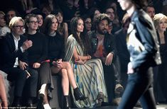 In the FROW: (Left to right) Gary Oldman, his wife Alexandra Edenborough, Demi Moore, Lisa...