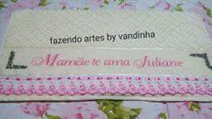 Fazendo artes by Vandinha: Frases bordadas em ponto cruz em toalhas de banho