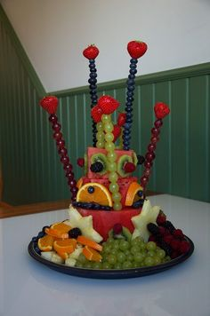 Fruit cake birthday, was a success both for kids and adults!