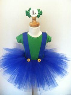 Items similar to Mario and Luigi tutu costume on Etsy Tutu Costumes, Halloween Costumes For Girls, Costume Ideas, Holidays Halloween, Halloween Kids, Halloween Pumpkins, Mario And Luigi Costume, Robes Tutu, Diy Tutu