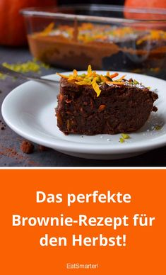 Das perfekte Brownie-Rezept für den Herbst! | eatsmarter.de #herbst #brownie #kürbis Blondie Brownies, Blondies, Cravings, Muffins, Cake, Desserts, Recipes, Food, Eat Smarter