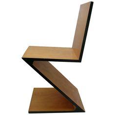 Chaise Zig-Zag (1932) Gerrit Rietveld