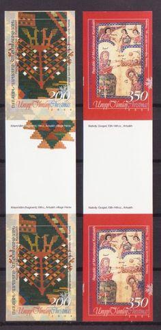 VERY RARE NAGORNO KARABAKH ARMENIA CHRISTMAS NEW YEAR IMPER PROOFS GUTTER R15198