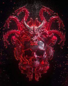 Billelis is the creative studio of UK Illustrator Billy Bogiatzoglou, specialising in Illustration, Art Direction and Design. Arte Horror, Horror Art, Satanic Art, Arte Cyberpunk, Skull Artwork, Arte Obscura, Macabre Art, Creepy Art, Dark Photography