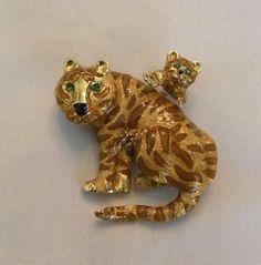 Animal Brooch Cat Brooch Brooch Pin Clip Woman Brooch Brooches Small Tiger Cat Brooch Tiger Pin Tiger Pin Gift For Her Retro Brooch