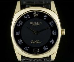Rolex White Gold Black Arabic Dial Cellini Danaos Gents RRP: Our Price: 661 038 and for more info. Rolex Watches, Watches For Men, Wrist Watches, Rolex Cellini, Vintage Rolex, Breitling, Cartier, Smart Watch, White Gold