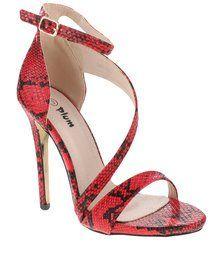 PLUM Josey High Heels Red