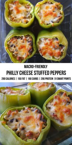 Macro-Friendly Stuffed Peppers - Malzisfit - Online Nutrition & Training The venture continues: get Low Carb Macros, Macros Diet, High Protein Recipes, Healthy Recipes, Healthy Meals, Macro Friendly Recipes, Macro Recipes, Macro Meal Plan, Beef Recipes