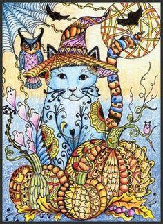 (2) Zentangle cat 3 pictures. - Bilder Land