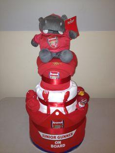 Arsenal Nappy Cake