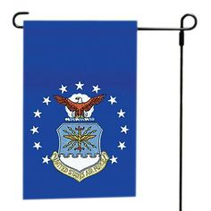 Valley Forge Flag 12-Inch by 18-Inch Nylon U.S. Air Force Garden Flag by Valley Forge Flag. $19.99. Lovely garden or walkway accent. Express your pride with this quality garden flag. Hand-sewn flag. 100-percent nylon flag. Flag is 100-percent made in the usa. Express your pride in landscape or garden beds with these military garden flags. Sleeved nylon military flags are available to complement any garden or landscape. Valley Forge Flag is the greatest name in flags. Valley For...