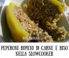 Ricetta per slowcooker o crockpot: peperoni ripieni di riso e carne