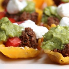 Taco Cheese Cups | https://lomejordelaweb.es/ Pinterest ^^ | https://pinterest.com/Ilovecocinar/