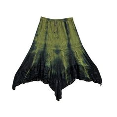 Mogulinterior Peasant Skirt Olive Green Embroidered Skirts