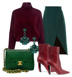 """Evergreen"" by iuliastyles ❤ liked on Polyvore featuring Altuzarra, McQ by Alexander McQueen, Vetements, Chanel, Kate Spade and outfit"