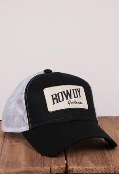Rowdy Gentleman Tan Bar Patch Mesh Hat - Black ebdd15c5de69