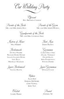 Leah and Luna Contemporary Birds Wedding Programs, Ceremony Programs, Church Programs - Documents and Designs