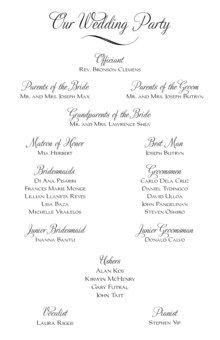 Leah and Luna Contemporary Birds Wedding Programs, Ceremony Programs, Church Programs - Documents and Designs