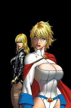 Power Girl and Black Canary by Michael Turner
