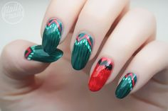 flailsandnails:  World Cup Nail Art (¡Viva Mexíco!) - click here to see more pics and my inspiration for these nails