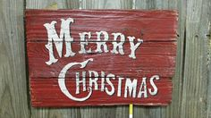 Vintage Merry Christmas sign on reclaimed by FarmFreshCollections