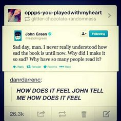 John Green reads his own book and realizes how sad it is John Green Libros, John Green Books, Nos4a2, Hank Green, Looking For Alaska, I Love Books, Amazing Books, Tfios, The Fault In Our Stars