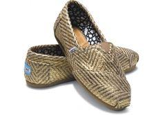 Gilded Herringbone Women's Classics | TOMS.com