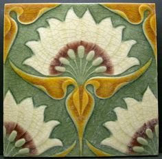 Great Original Art Nouveau Tile by Craven Dunnill C1904 | eBay