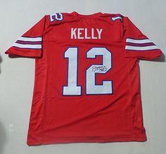 Jim Kelly Buffalo Bills Signed Red Men's Custom Autographed Football Jersey Men's Size 48 NFL
