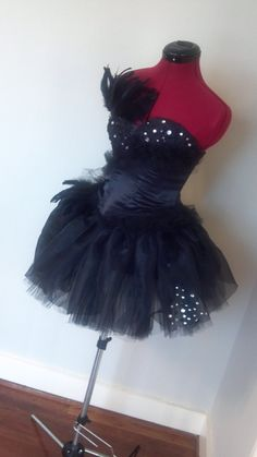 Black Swan Costume made to order...free shipping. $250.00, via Etsy.