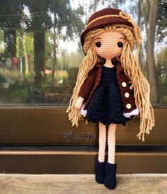 Amigurumi doll hair inspiration