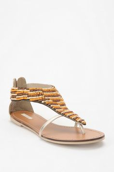 Urban Outfitters beaded sandals. I am so excited it's almost sandal season!