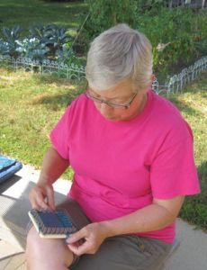Margaret Stump is the author of the newly published, Pin Loom Weaving; 40 Projects for Tiny Hand Looms. She lives with her husband, Jerry, in Mankato, MN, and spends far too much time thinking about what she is making and what she might make on her pin looms