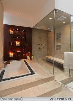 Luxury Bathroom Master Baths Dreams is unquestionably important for your home. Whether you pick the Luxury Bathroom Master Baths Beautiful or Luxury Master Bathroom Ideas, you will make the best Interior Design Ideas Bathroom for your own life. Romantic Bathrooms, Dream Bathrooms, Beautiful Bathrooms, Master Bathrooms, Luxury Bathrooms, Master Baths, Contemporary Bathrooms, Contemporary Shower, White Bathrooms