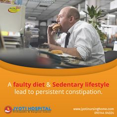 Long sitting job and faulty diet can lead to consistent #constipation. #Jyotinursinghome provides healthy diet plans to avoid it. Visit link in the bio to know more on constipation treatment. https://goo.gl/fx1rsc