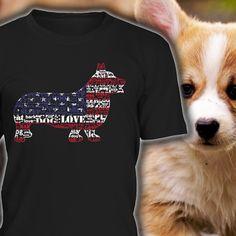 Corgi Shirt USA Flag Tee  Perfect Gift for Corgi by TopStyleCo