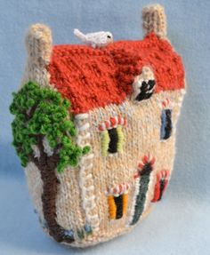 Little Town House  Red Roof by GinxCraft on Etsy, £15.00
