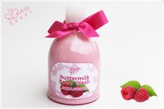 "Buttermilk Body Wash ""Raspberry"" (for bath & Shower, with Buttermilk & Grape Seed Oil)"