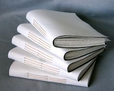 Blank White Canvas Art Journal  Hand Bound  Blank by CheriUcci, $18.00