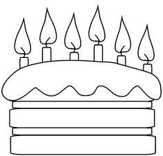 ideas birthday cake drawing design coloring pages Easy Coloring Pages, Coloring Pages To Print, Coloring For Kids, Coloring Books, Birthday Surprise Boyfriend, Husband Birthday, Applique Templates, Applique Patterns, Birthday Crafts